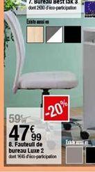 Fauteuil de bureau Luxe 2 offre à 47,99€