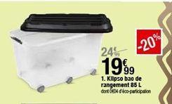 Klipso bao de rangenment 85L offre à 19,99€
