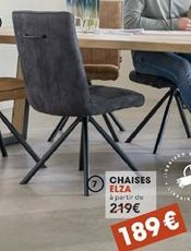 Chaise offre à 189€