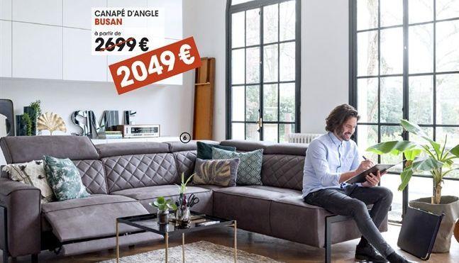 Canapé d'angle offre à 2049€