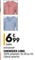 Chemisier long offre à 6,99€