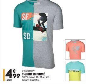 T-shirt imprimé offre à 4,99€
