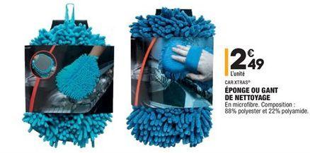 Éponge ou gant de nettoyage offre à 2,49€