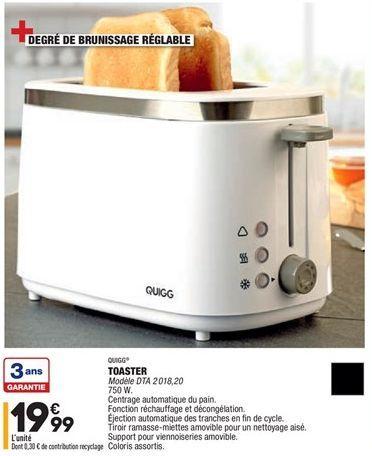 Grille-pain  offre à 19,99€