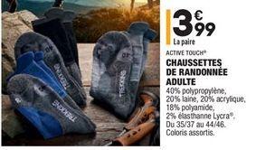 Chaussettes de randonnée adulte offre à 3,99€