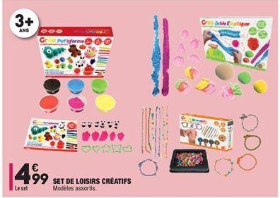 Set de loisirs créatifs offre à 4,99€