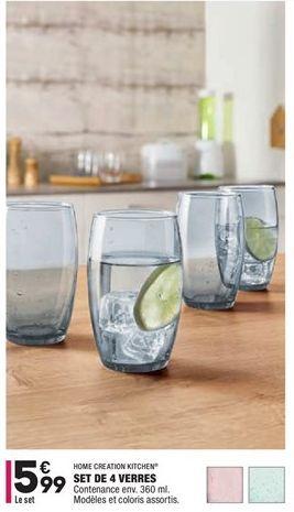 Set de 4 verres offre à 5,99€