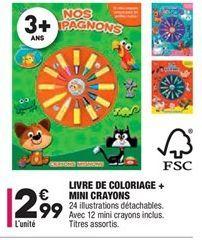 Livre de coloriage + mini crayons offre à 2,99€