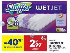 Lingettes de nettoyage offre à 2,99€