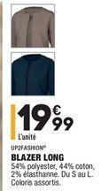 Blazer long offre à 19,99€