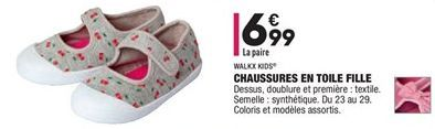 Chaussures en toile fille offre à 6,99€