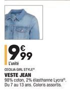 Veste  offre à 9,99€