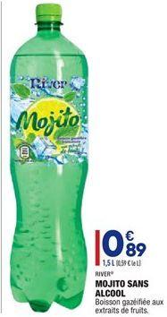 Mojito sans alcool offre à 0,89€