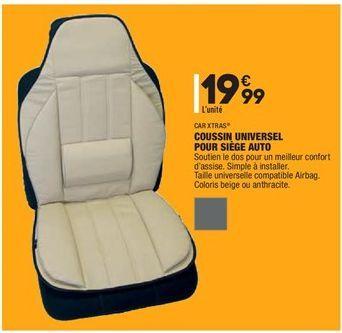 Coussin universel pour siège auto offre à 19,99€