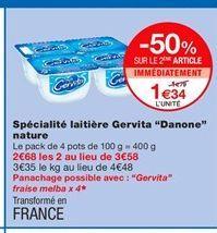 Yaourt Danone offre à 1,34€