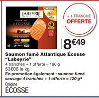 Saumon fumé Labeyrie offre à 8,49€