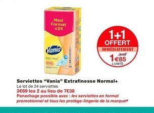 Serviettes offre à 1,85€