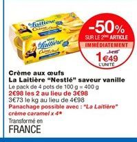 Crème Nestlé offre à 1,49€