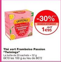 Thé vert offre à 1,95€