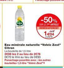 Eau Volvic offre à 1,04€