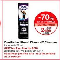 Dentifrice offre à 2,99€