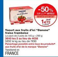 Yaourt aux fruits Danone offre à 1,72€