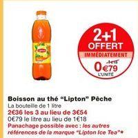 Thé Lipton offre à 0,79€
