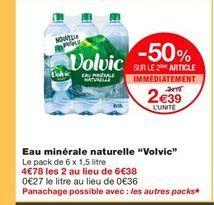 Eau Volvic offre à 2,39€