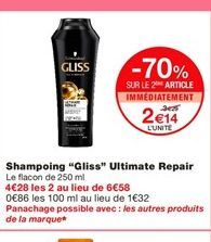 Shampoing Gliss offre à 2,14€