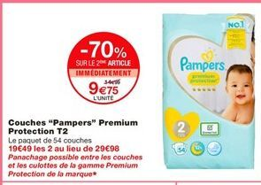 Couches Pampers offre à 9,75€