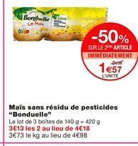 Maïs Bonduelle offre à 1,57€