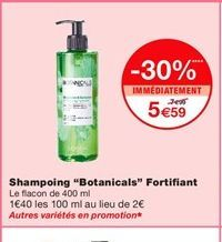 Shampoing offre à 5,59€