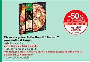 Pizza surgelée offre à 3,74€