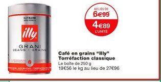 Café en grains offre à 4,89€