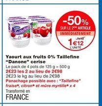 Yaourt aux fruits Danone offre à 1,12€
