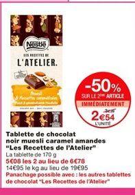 Chocolat Nestlé offre à 2,54€
