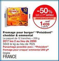 Fromage Président offre à 1,09€