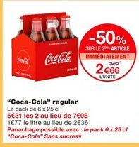 Coca-cola offre à 2,66€