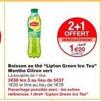 Thé Lipton offre à 1,2€