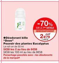 Déodorant offre à 2,79€
