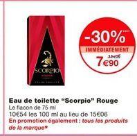 Eau de toilette offre à 7,9€