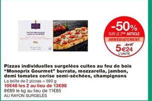 Pizza surgelée offre à 5,24€