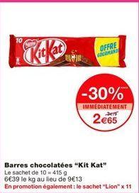Chocolat Nestlé offre à 2,65€