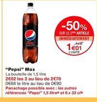 Pepsi offre à 1,01€