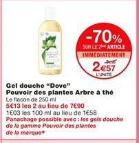 Gel douche Dove offre à 2,57€