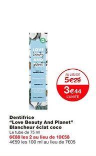 Dentifrice offre à 3,44€