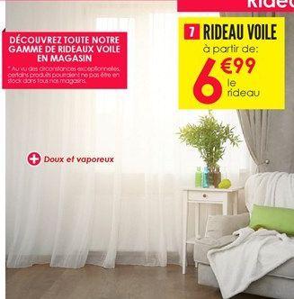 Rideaux offre à 6,99€