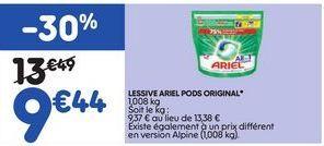 Lessive Ariel offre à 9,44€