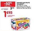 Yaourt offre à 1,93€