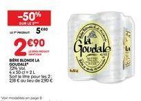 Bière blonde La Goudale offre à 2,9€